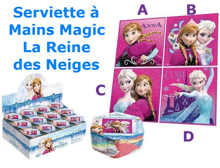 403848f0c32619 Serviette à mains Magic La Reine des Neiges