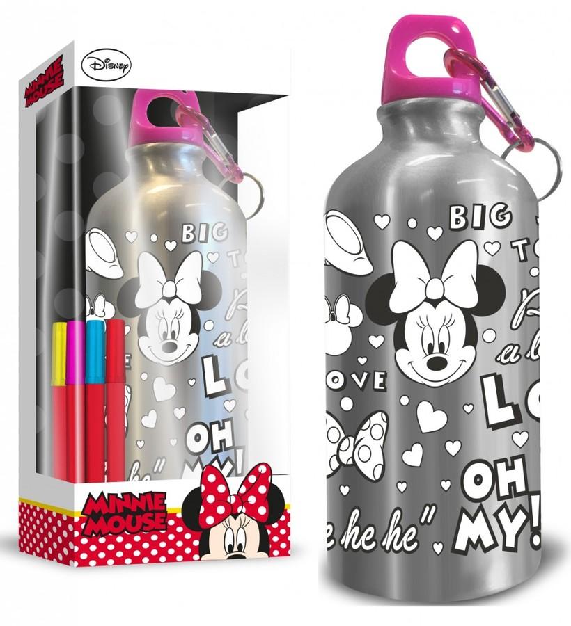 Gourde aluminium colorier minnie mouse - La petite boutique de minnie ...